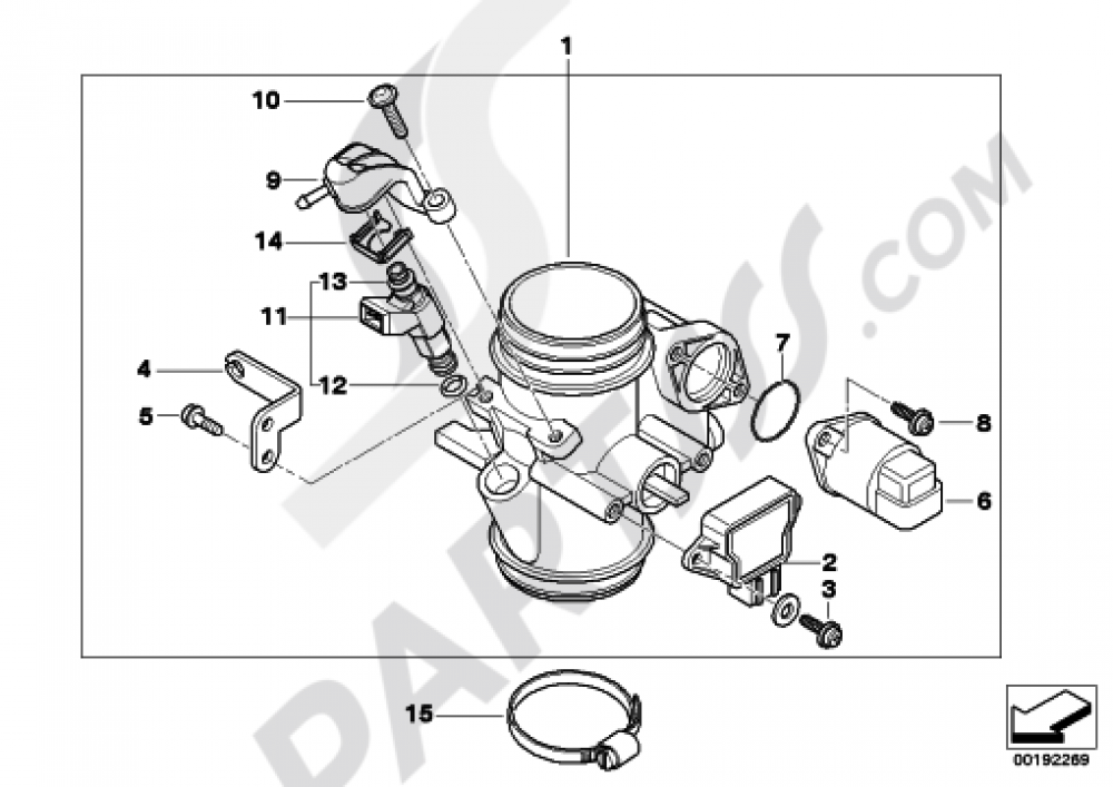 Throttle Housing Assy Bmw G650gs Sertao G650gs