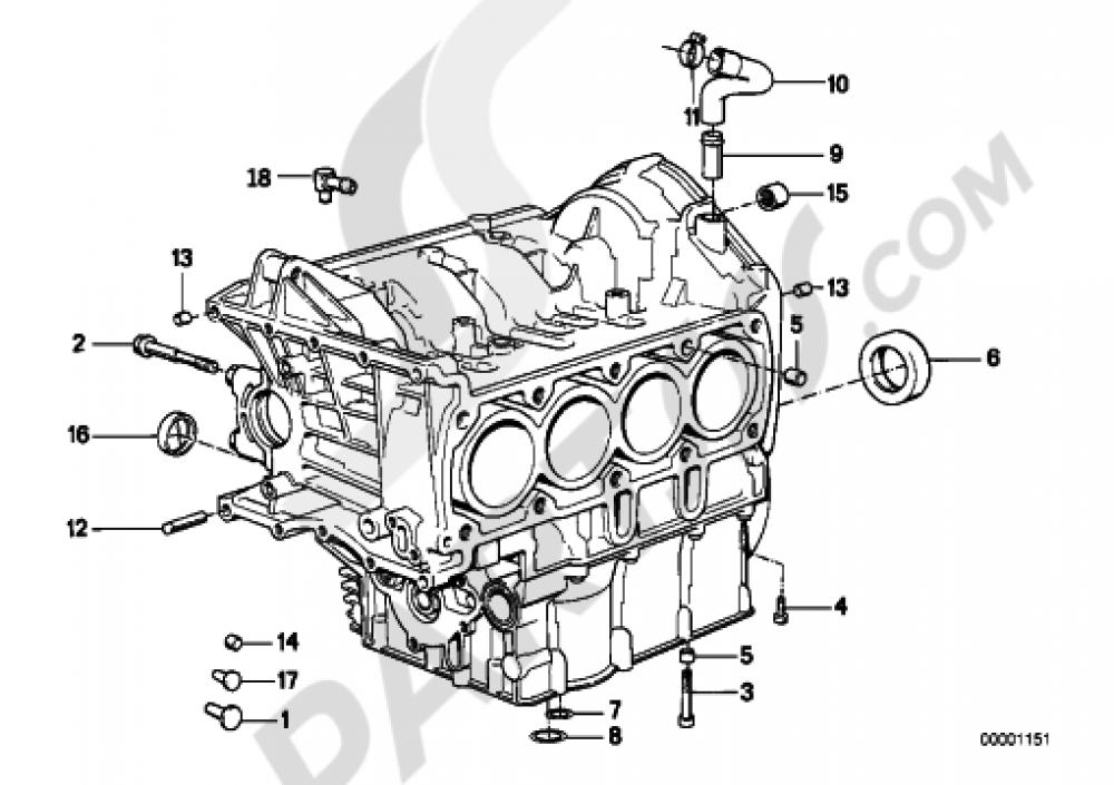 ENGINE BLOCK MOUNTING PARTS Bmw K1100LT K1100