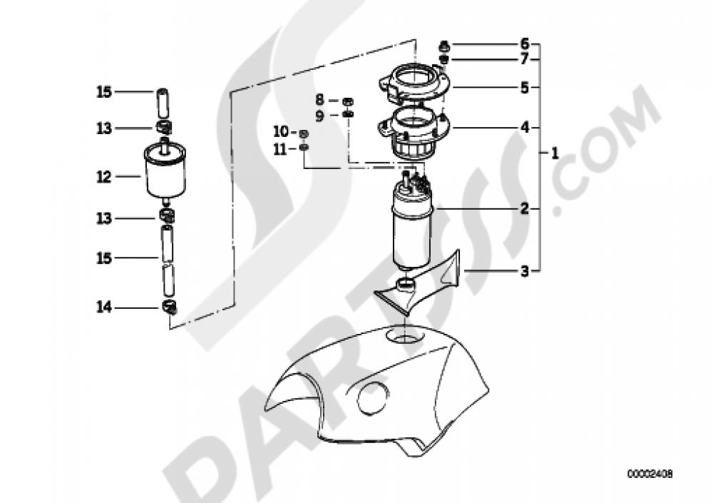 fuel pumpfuel filter bmw k1100lt k1100 lt  89v2
