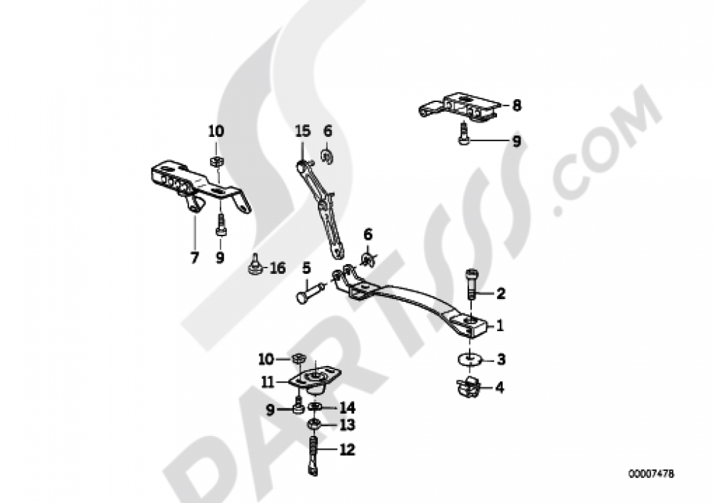 MOUNTING PARTS FOR BENCH SEAT Bmw K1100LT K1100