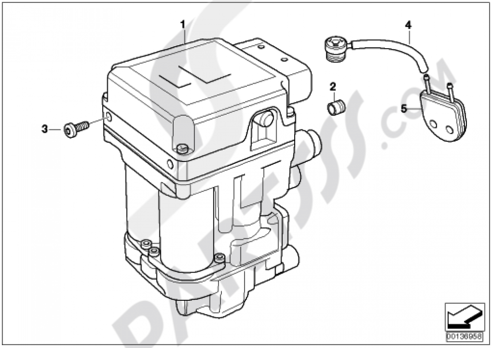 Pressure Modulator Integral Abs Bmw K1200gt 2003 2004