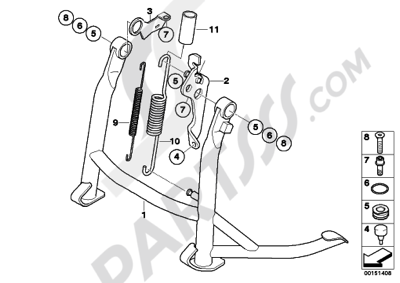 Bmw K1200GT 2006-2008 (K44) Dissembly sheet. Purchase ... on