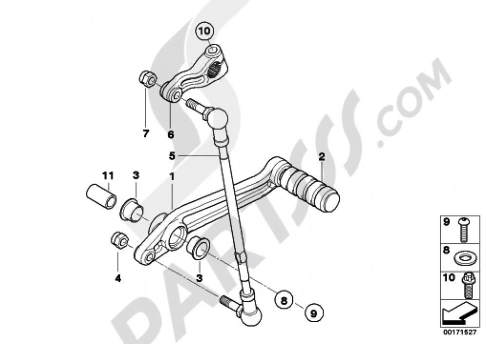 External Gearshift Partsshift Lever Bmw K1200gt 2006