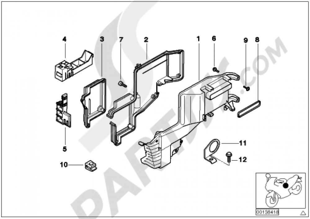 wiring boxfuxe boxmounting parts bmw k1200lt 1999