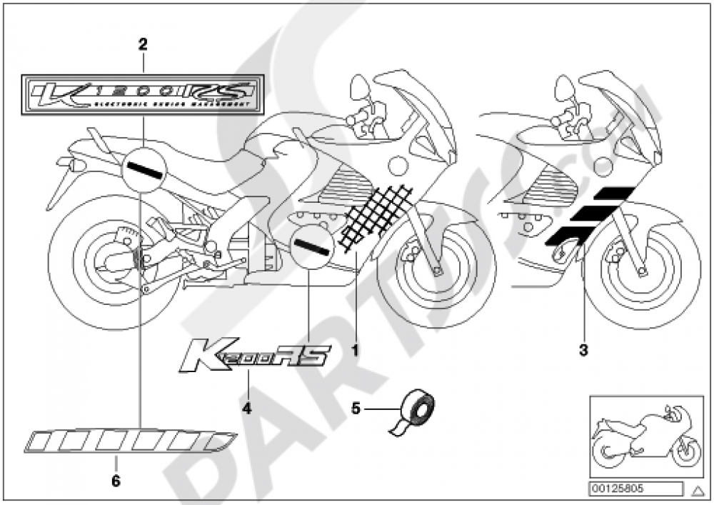 STICKER Bmw K1200RS 1998-2001 (89V3)