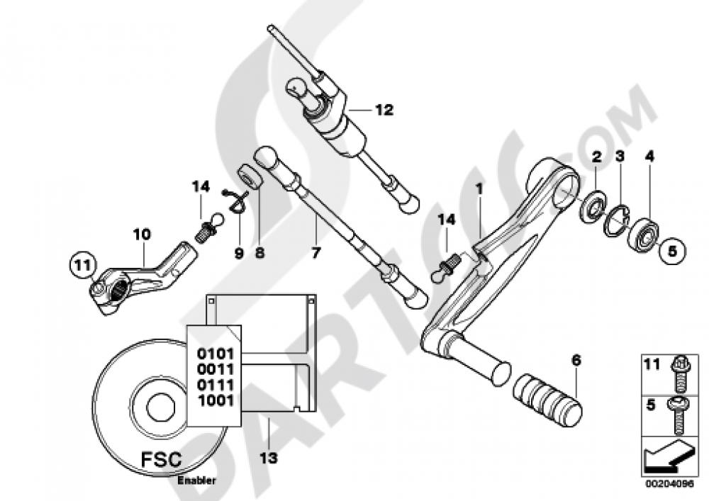 External Gearshift Partsshift Lever Bmw K1300r K1300r
