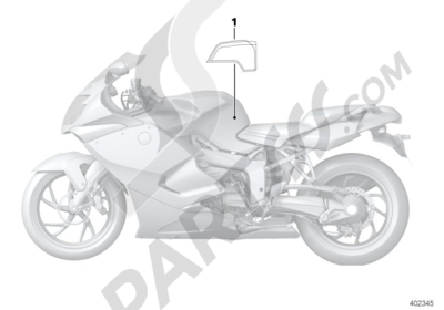 adhesive label for tank cover  bmw k1300s