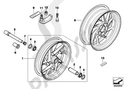 bmw k1300s k1300s (k40) hp forged wheels