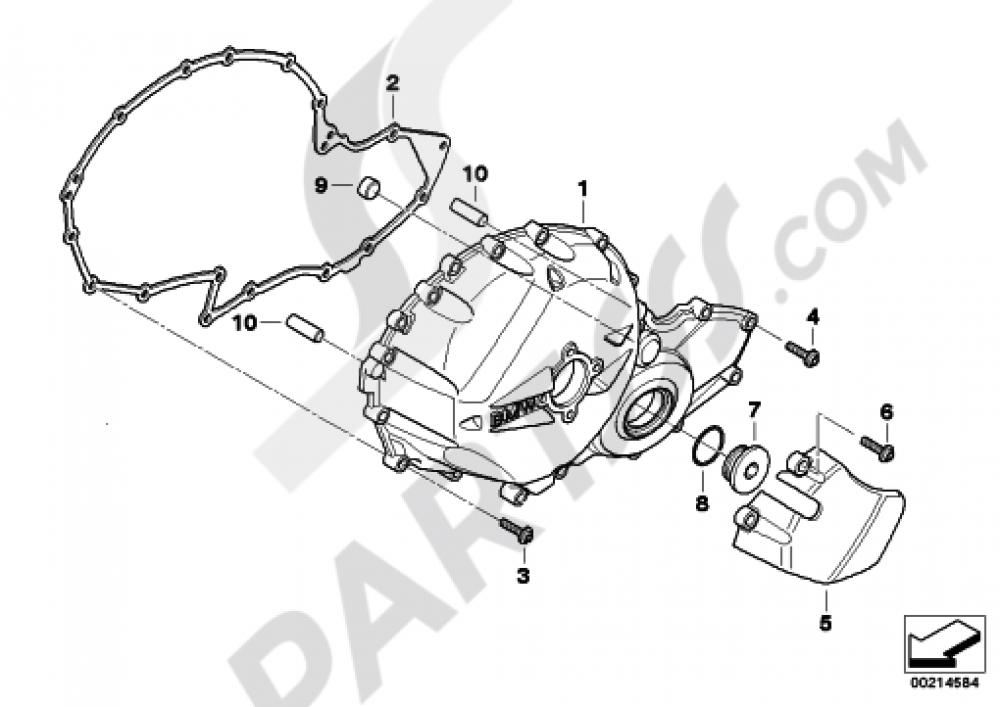 ENGINE HOUSING COVER, RIGHT Bmw K1300S K1300S (K40)