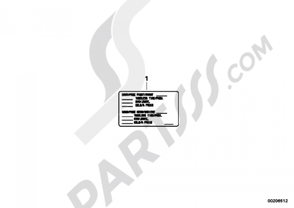 NOTICE STICKER FOR TIRES USACAN Bmw K1300S K1300S (K40)