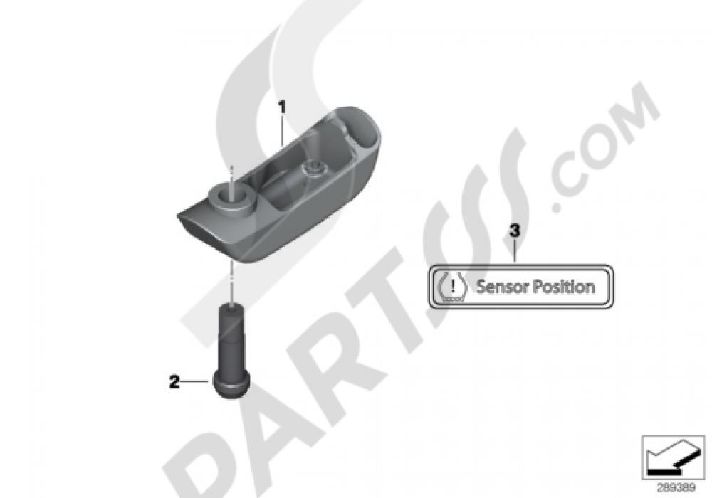 RDC SENSOR FOR FRONT WHEEL Bmw K1300S K1300S (K40)