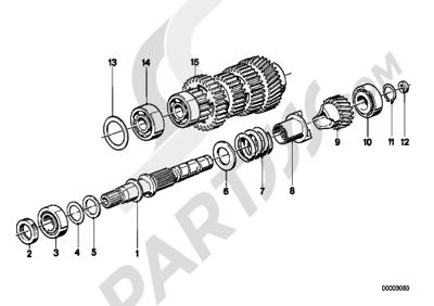 Bmw K75 K75 (K569) 5 SPEED TRANSMISSION-DRIVE SHAFT