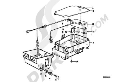 Bmw K75 K75 (K569) ALARM SYSTEMS