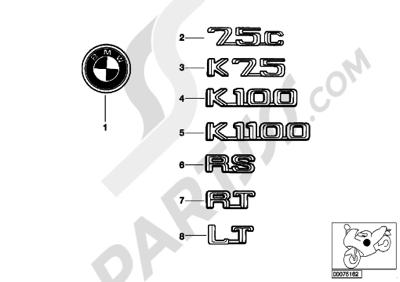 Bmw K75 K75 (K569) BADGE