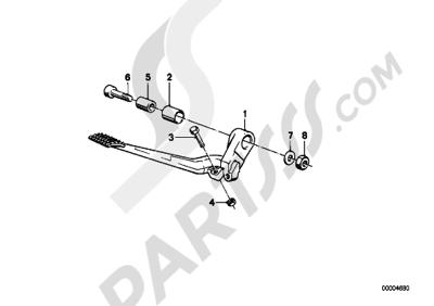 Bmw K75 K75 (K569) BRAKE PEDAL