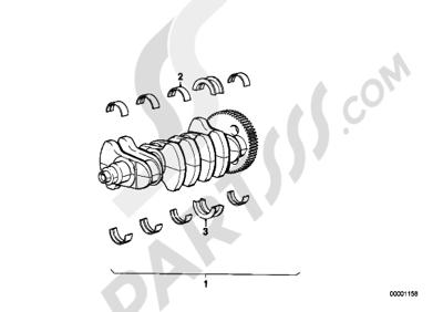 Bmw K75 K75 (K569) CRANKSHAFT