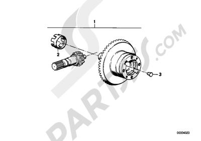 Bmw K75 K75 (K569) DIFFERENTIAL GEAR SET
