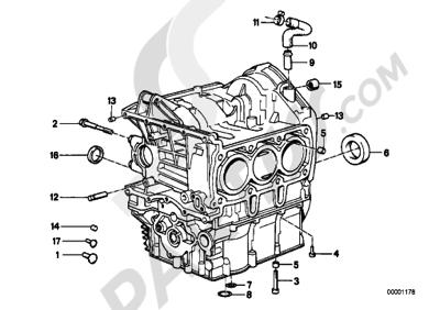 Bmw K75 K75 (K569) ENGINE BLOCK MOUNTING PARTS