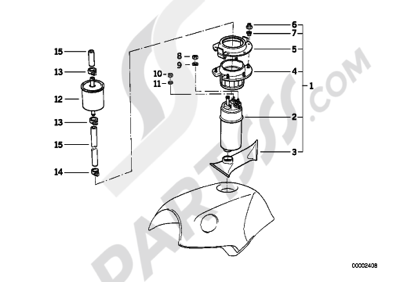 Bmw K75 K75 (K569) FUEL PUMPFUEL FILTER