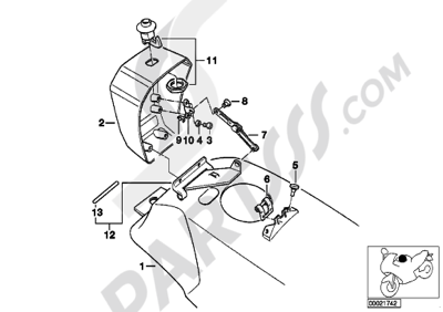 Bmw K75 K75 (K569) FUEL TANKAUTHORITIES