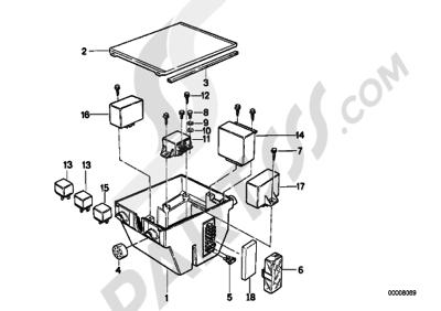 Bmw K75 K75 (K569) FUSE BOX