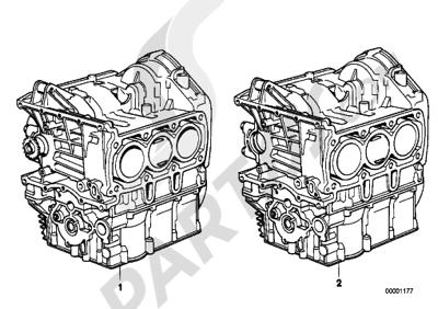 Bmw K75 K75 (K569) SHORT ENGINECRANK CASE WITH PISTONS