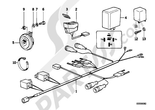 Bmw K75 K75 (K569) SIGNAL.LIGHT F TONE-SEQUENC CTRL SYSTEM