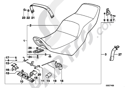 Bmw K75 K75 (K569) SLIDING DUAL SEAT