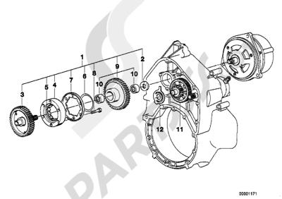Bmw K75 K75 (K569) STARTER 1-WAY CLUTCHREDUCT GEAR SHAFT