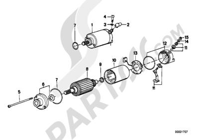 Bmw K75 K75 (K569) STARTER SINGLE PARTS