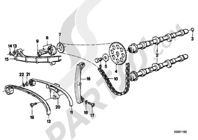 Bmw K75 K75 (K569) TIMING GEAR - CAM SHAFTCHAIN DRIVE