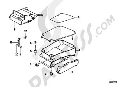 Bmw K75 K75 (K569) TOOL BOX