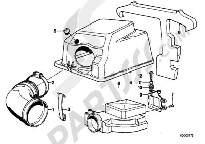 Bmw K75 K75 (K569) TOP AIR CLEANER HOUSINGAIR-FLOW SENSOR