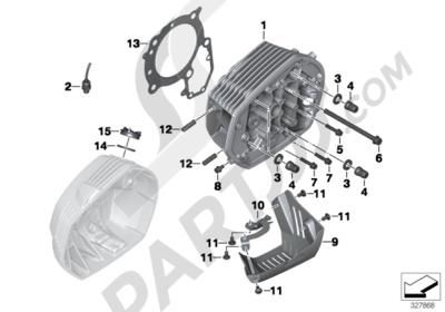 bmw r ninet r ninet (k21) cylinder headmounting parts
