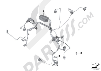 bmw r ninet r ninet (k21) engine wiring harness