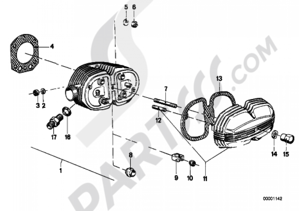 Cylinder Head Cover Gaskets Bmw R100rs 1977 1984 2474