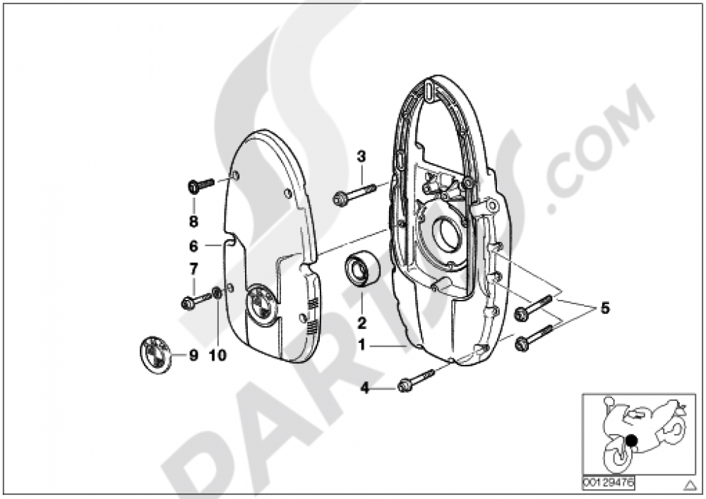 Front Coveralternator Support Cover Bmw R1100rt