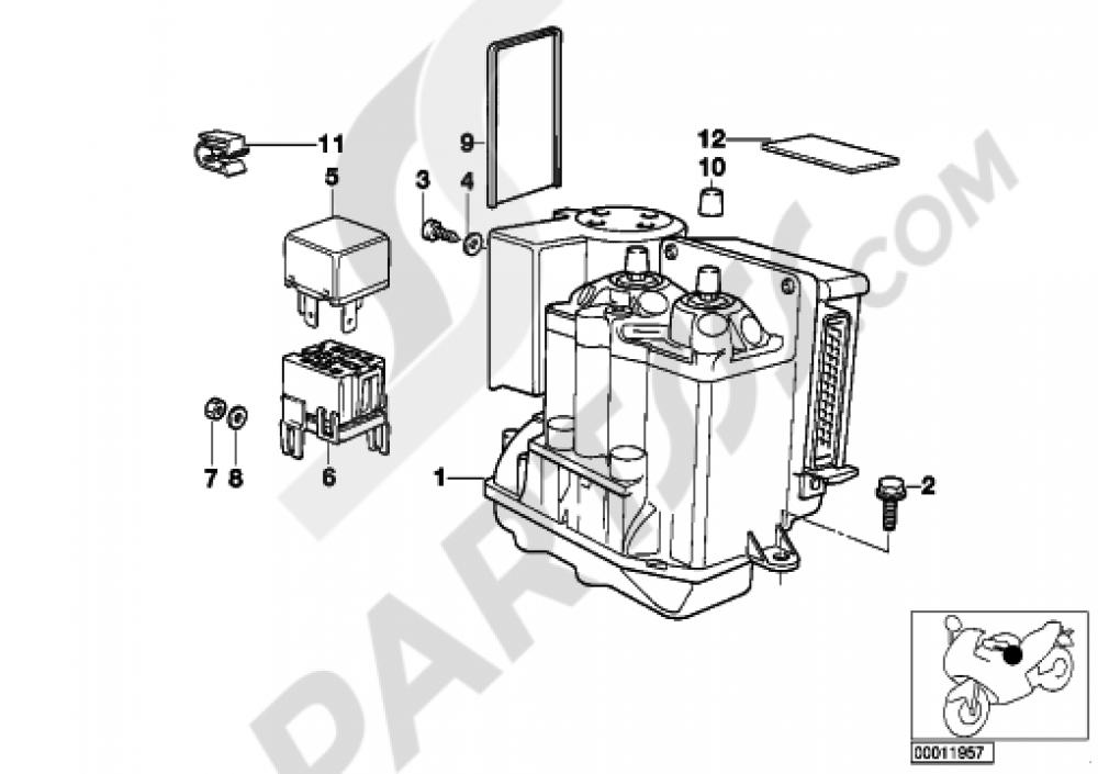 PRESSURE MODULATOR ABS Bmw R1100RT R1100RT ... on