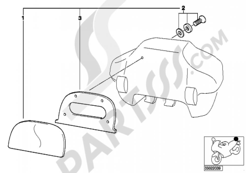 Set Backrest Cushion 33 L Topcase Bmw R1100rt R1100rt