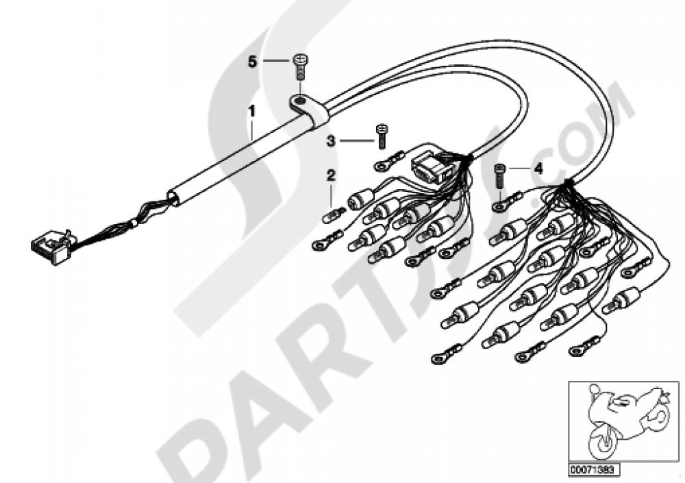 bmw r 1100 wiring diagram wiring harness  instrument cluster bmw r1100s  wiring harness  instrument cluster bmw