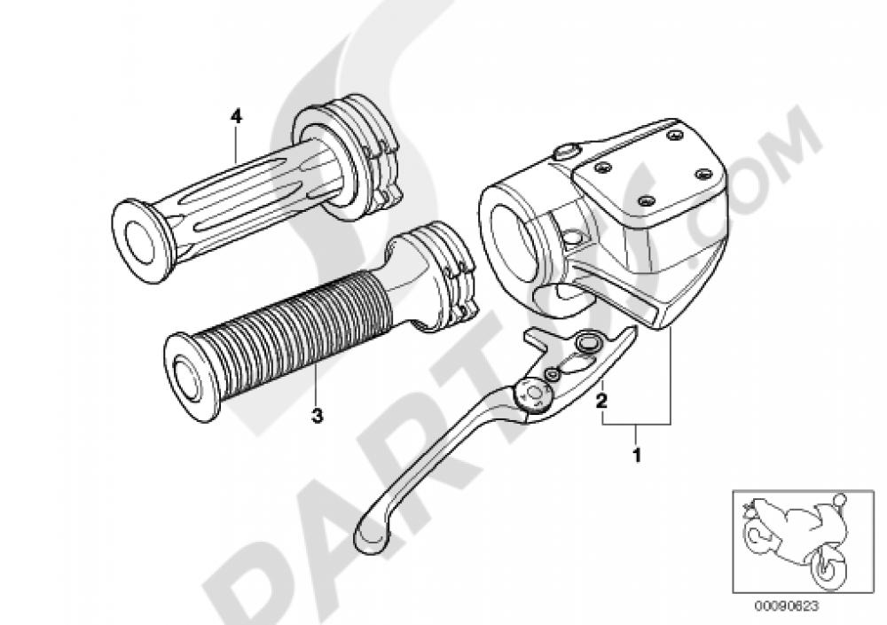 Handbrake Lever Bmw R1150gs R1150gs R21