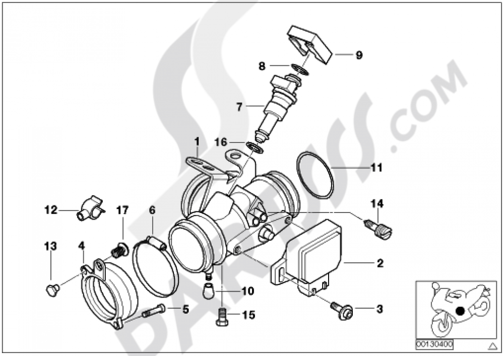 THROTTLE HOUSING Y Bmw R1150GS R1150GS (R21) on