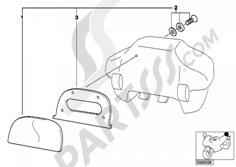 Set Backrest Cushion 33 L Topcase Bmw R1150rt R1150rt