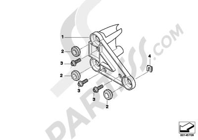 Bmw R1200GS R1200GS 2005-2007 (K25) BRACKET F INSTRUMENT CLUSTER