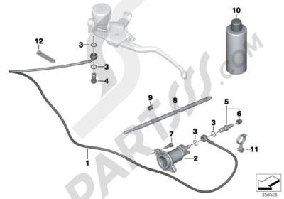 Bmw R1200GS R1200GS 2005-2007 (K25) CLUTCH CONTROL