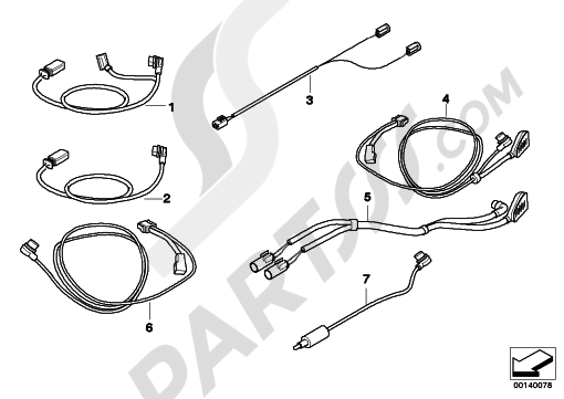 Bmw R1200GS R1200GS 2005-2007 (K25) CONNECT.CABLE FOR NAVIGATION SYSTEM