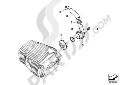 Bmw R1200GS R1200GS 2005-2007 (K25) ENGINE VENTILATION