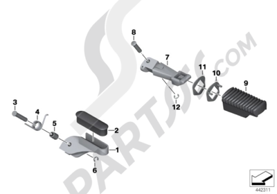 Bmw R1200GS R1200GS 2005-2007 (K25) FRONT AND REAR FOOTPEG