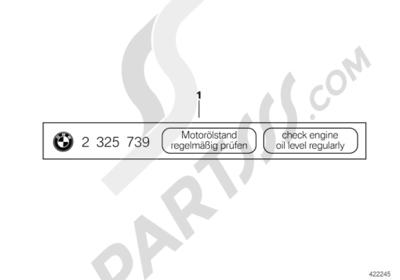Bmw R1200GS R1200GS 2005-2007 (K25) LABEL OIL LEVEL
