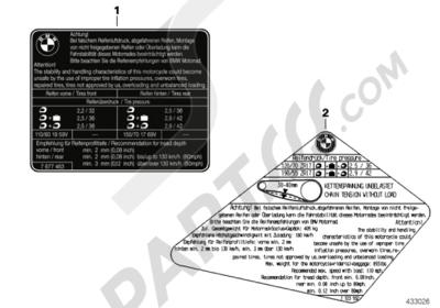 Bmw R1200GS R1200GS 2005-2007 (K25) LABEL TIRES